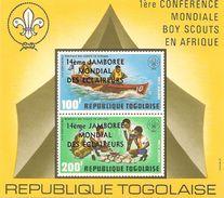 TOGO Scott C266a Yvert BF91 (bloc) Neuf** Cote 3,25$ Surcharge - Togo (1960-...)