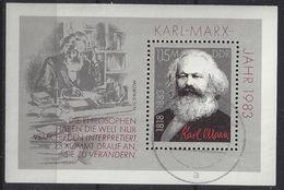 Germany (DDR) 1983  Karl Marx (o) Mi.2789 (block 71) - DDR