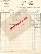 86- LUSSAC LES CHATEAUX- RARE FACTURE L. FELIX-DEPOSITAIRE ESSENCE-PETROLE-GAS OIL ET FUEL OIL- M. PERICARD-1938 - Cars