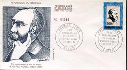 28409 Senegal, Fdc 1971 75th Aniversary Death Of Alfred Nobel - Celebrità