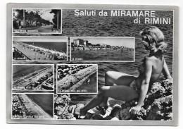 SALUTI DA MIRAMARE DI RIMINI   VIAGGIATA FG - Rimini