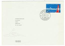 Suisse // Schweiz // Switzerland //  1950-1959  //  Lettre  Avec Cachet Zurich Flughafen Du 30.08.1953 - Schweiz