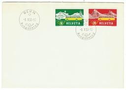 Suisse // Schweiz // Switzerland //  FDC  //  Lettre 1er Jouir 08.10.1953, Timbres Pour Bureau De Poste Automobile - FDC