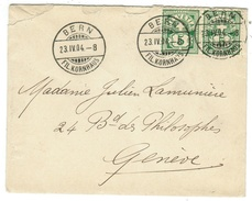 Suisse // Schweiz // Switzerland //  Armoiries // Lettre Pour Genève - Lettres & Documents