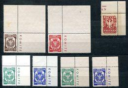6459 - DACHAU + FREIMAN - Postfrische Eckrandstücke (10 Pf. Unberechnet) - Polen