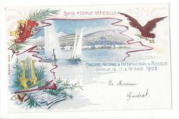 18192 - Genève Concours National & International De Musique 1902 - GE Genève