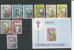 TOGO Scott 1132-1138, C469-C470, C471 Yvert 1067-1073, PA471-PA472, BF162** (9+bloc) O Et ** Cote 8,30$ 1982 - Togo (1960-...)