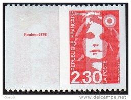 France Marianne Du Bicentenaire N° 2628 ** Briat - Roulette Le 2.30 Frs Rouge - 1989-96 Marianna Del Bicentenario