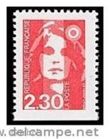 France N° 2629 ** BRIAT - Marianne Du Bicentenaire - Dentelure 3 Cotés Non Dentelé En Bas - Neufs