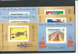 TOGO Scott 1158a-1163a Yvert 1087a-1089a, PA480a-PA482a (6 Blocs) ** Cote 6$ - Togo (1960-...)