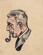 Dessin Encre De Chine Et Crayon De A. Robyns De Schneidauer Vers 1900 - Vecchi Documenti