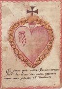 Canivet Coeur De Marie Fait Main Pour Dame Marie Ange Religieuse Bénédictine à Namur Décédée Le 7 Juillet 1764 - Imágenes Religiosas
