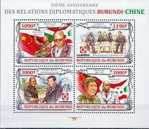 Burundi MNH Chinese Leaders Sheetlet - Mao Tse-Tung