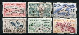 5550   FRANCE   N° 960/5**  Jeux Olympiques D'Helsinki (1952)   1953  Cote : 88.85€   TTB - France