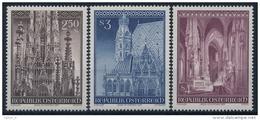 **Österreich Austria 1977 ANK 1560-62 Mi 1544-46 (3) Stephansdom Church MNH - 1971-80 Ungebraucht