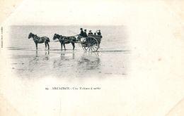 N°59453 -cpa Arcachon -une Voiture à Sable- - Arcachon