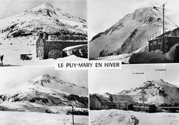 """LE PUY MARY (Cantal)  En Hiver Un Buron, Le Refuge """"Aux Cent Jours"""", Le Pas De Peyrol - France"""