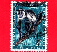 RWANDA-URUNDI - Usato -  1959 - Animali Protetti - Scimmie - Colobus Monkey (Colobus Sp.) - 2 - Ruanda