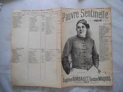 PAUVRE SENTINELLE  CHANSONNETTE CREEE PAR POLIN PAROLES DE EUGENE RIMBAULT MUSIQUE DE GASTON MAQUIS - Partitions Musicales Anciennes