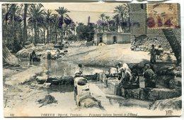 - 121 - TOZEUR  - Djerid, Tunisie, Femmes Juive Lavant Dans L'oued, Cliché Peu Courant, écrite, 1922, BE, Scans. - Túnez