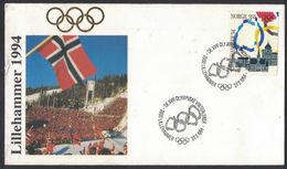 XB176  Norge 1994 Olympics Lillehammer, Flags Mi 1149 FDC - FDC