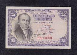 EDIFIL 450a.  25 PTAS 19 FEBRERO DE 1946 SERIE F, CONSERVACIÓN EBC+ - [ 3] 1936-1975 : Regency Of Franco