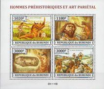 Burundi MNH Prehistoric Man Sheetlet - Prehistory