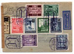 Carta De Austria De 1947 Con Bonitos Matasellos - 1945-.... 2ème République
