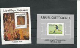 TOGO Scott 1393, 1375 Yvert BF251A, BF254 (2 Blocs) ** Cote 15,00$ 1986 - Togo (1960-...)