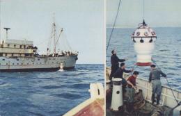 """Transports - Bâteau - Pétrolier Navire Océanographique """"Président Théodore Tissier"""" - Tourelle De Plongée - Pétroliers"""