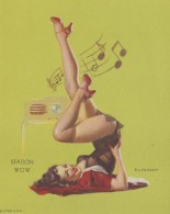 Image - Pin-Ups - Femme Bas Corset - Musique - Illustration Radio - Old Paper