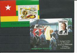 TOGO Scott 1422, C558 Yvert BF258, BF261 (2blocs) ** Cote 6,75$ 1987 - Togo (1960-...)