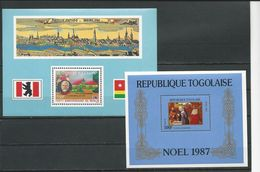 TOGO Scott C562, 1452 Yvert BF262, BF264 (bloc) ** Cote 10,00$ 1987 - Togo (1960-...)
