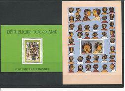 TOGO Scott 1477, 1502 Yvert BF273, BF275 (2blocs) ** Cote 7 $ 1988 - Togo (1960-...)