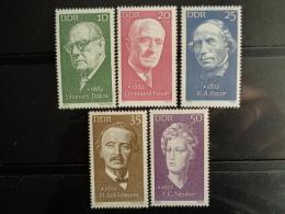 DDR 1972 Y&T N° 1421 à 1425 ** - PERSONNAGES CELEBRES - [6] République Démocratique
