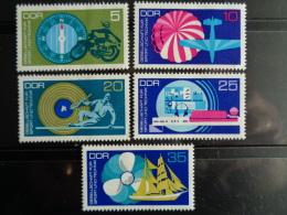 DDR 1972 Y&T N° 1460 à 1464 ** - SPORTS ET TECHNIQUES - [6] République Démocratique