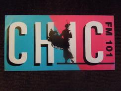 Autocollant / Stickers De 15 Cm , Chic Radio FM - Autocollants