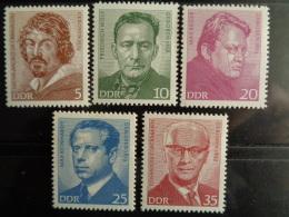 DDR 1973 Y&T N° 1514 à 1518  ** -  PERSONNAGES CELEBRES - [6] République Démocratique