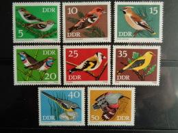 DDR 1973 Y&T N° 1531 à 1538 ** - OISEAUX DIVERS - [6] République Démocratique