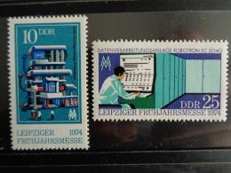 DDR 1974 Y&T N° 1611 & 1612 ** - LIEPZIG FOIRE DE PRINTEMPS - [6] République Démocratique