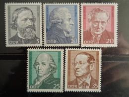 DDR 1974 Y&T N° 1621 à 1625 ** - PERSONNAGES CELEBRES - [6] République Démocratique