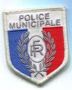 103 PATCH ECUSSON POLICE MUNICIPALE SUR VELCRO BLANC 65X80 MM - Polizia