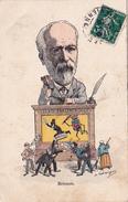 CPA Caricature Satirique Henri BRISSON Guignol Parlementaire Franc-Maçon Masonic Illustrateur (2 Scans) - Satiriques