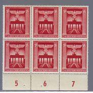 REICH  GERMANIA GERMANY1943   MNH**MACHTERGREIFUNG Mi 829 Presa Del Potere SECHSBLOCK - Allemagne