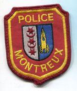 P236 PATCH ECUSSON POLICE DE MONTREUX SUISSE 68X82 MM - Police & Gendarmerie