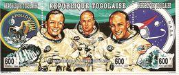 TOGO Scott 1626-1627, 1626s-1627s Yvert 1333, 1338, 1333s, 1338s (2 Tryptiques+2bloc) **cote 40$ Appolo 11 - Togo (1960-...)
