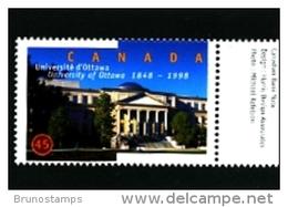 CANADA - 1998   UNIVERSITY OF OTTAWA  MINT NH - 1952-.... Regno Di Elizabeth II