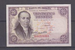 EDIFIL 450a.  25 PTAS 19 FEBRERO DE 1946 SERIE H, CONSERVACIÓN MBC - [ 3] 1936-1975 : Regency Of Franco