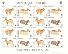 TOGO Scott 1720 Yvert 1615-1618 X 4 (bloc De 16 Timbres) ** 1996 Cote 28$ - Togo (1960-...)