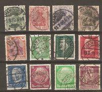 Allemagne, Empire - Marcophilie - Cachets HAMBURG - Petit Lot De 12 Timbres° - Poststempel - Freistempel